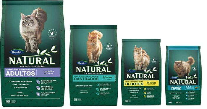 Упаковки корма Guabi Natural для кошек