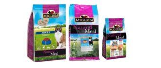 Упаковки корма Meglium для кошек