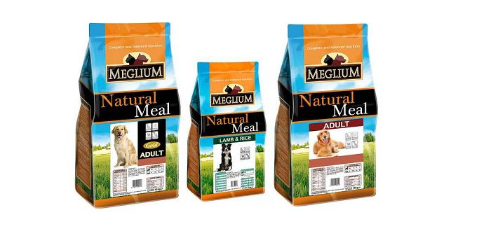 Упаковки корма meglium для собак