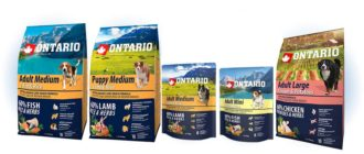 Ontario для собак упаковки корма