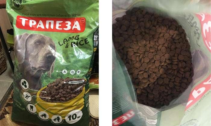 Отзывы о корме Трапеза для собак