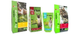 Упаковки корма Pronature Original для кошек