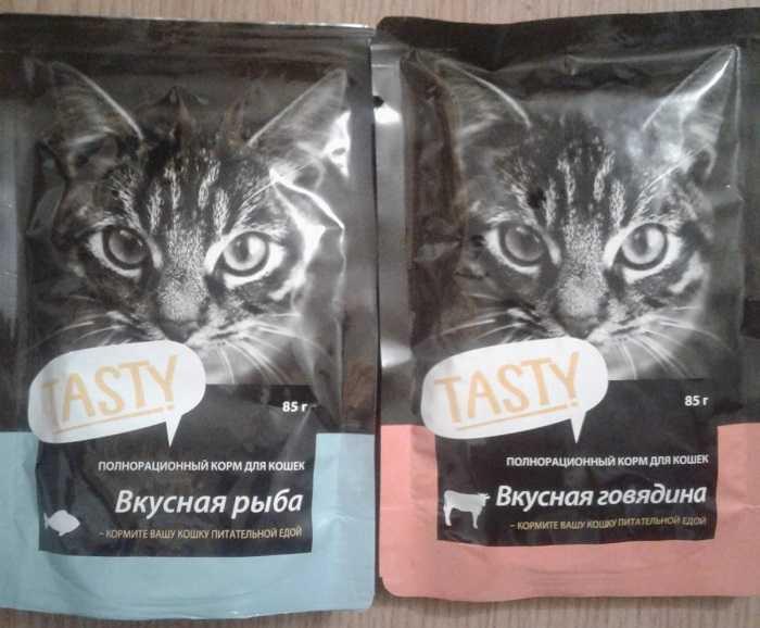 Отзыв о корме Tasty для кошек