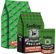 Упаковки корма Zooring для собак лосось и рис