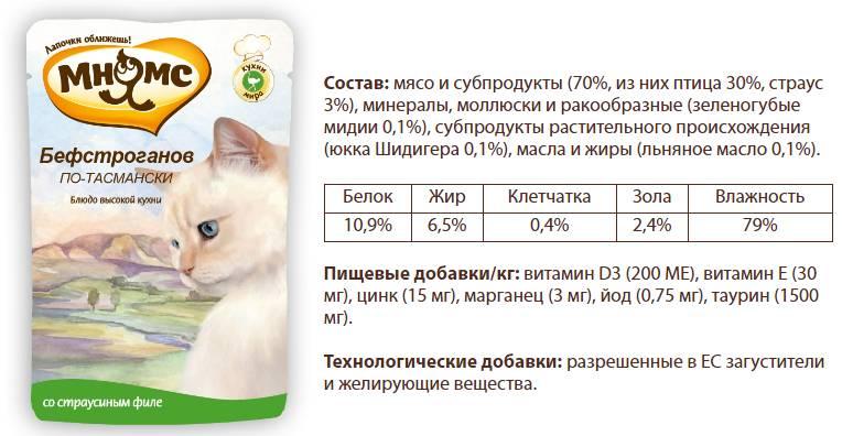Состав Мнямс - Бефстроганов по-тасмански Сочное страусиное филе