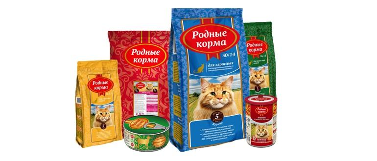 Корм Родные корма для кошек