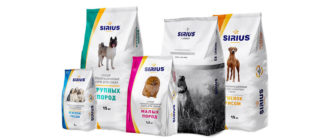 Корм Sirius для собак