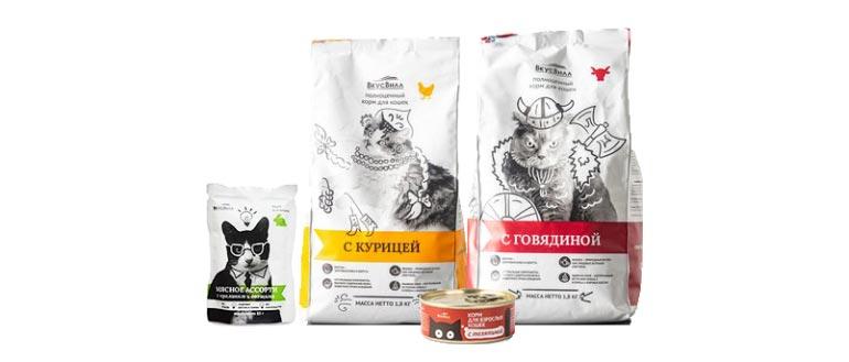 Корм ВкусВилл для кошек