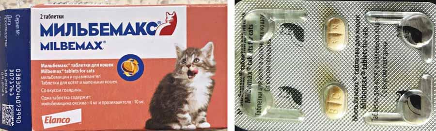 Таблетки Мильбемакс для котят